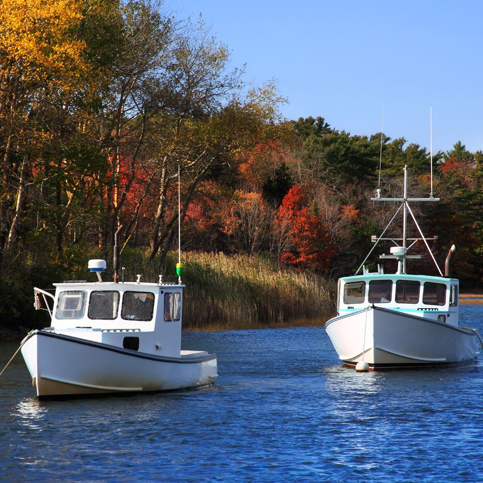 Two Lobster Boats